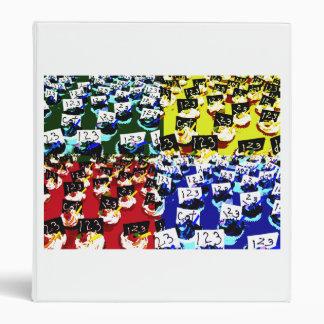 Teacher cupcake repeat pop art two invert vinyl binders