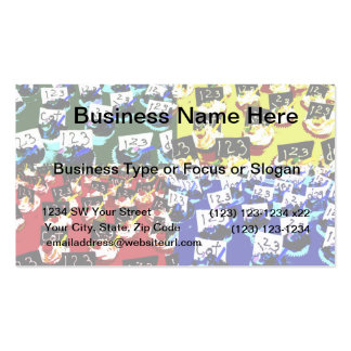 Teacher cupcake repeat pop art two invert Double-Sided standard business cards (Pack of 100)