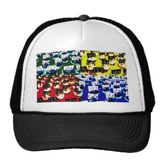 Teacher cupcake repeat pop art two invert mesh hats