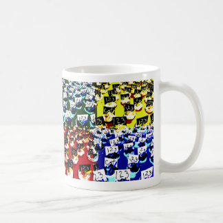 Teacher cupcake repeat pop art two invert classic white coffee mug