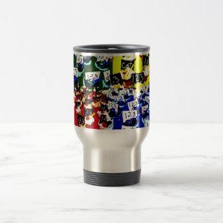Teacher cupcake repeat pop art two invert 15 oz stainless steel travel mug