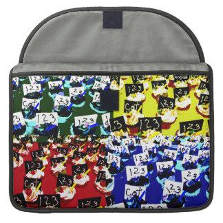 Teacher cupcake repeat pop art two invert sleeve for MacBook pro