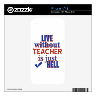 TEACHER DESIGN DECALS FOR THE iPhone 4S