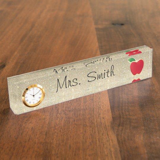 Teacher Desk Name Plate Zazzle Com