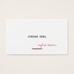 Grammar of business cards templates zazzle teacher editor fully customizable business card colourmoves