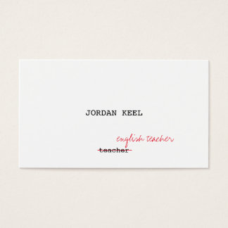 Teacher Editor (FULLY CUSTOMIZABLE) Business Card