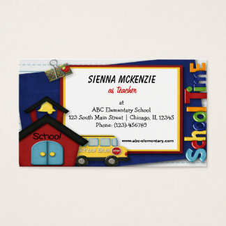 Teacher Elementary School Business Card
