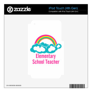 Teacher Elementary School iPod Touch 4G Decals