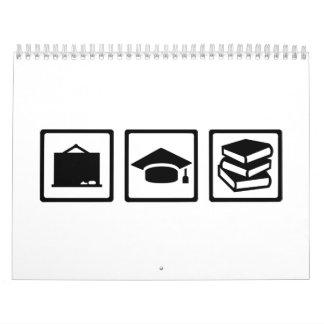 Teacher equipment calendar