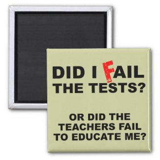 Teacher Fail Funny Fridge Refrigerator Magnet