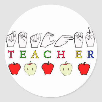 Sign Language Teacher Stickers | Zazzle