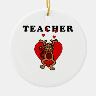 Teacher Fun Ceramic Ornament