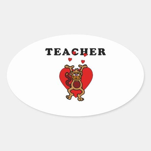 Teacher Fun Oval Sticker