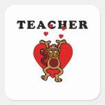 Teacher Fun Square Sticker