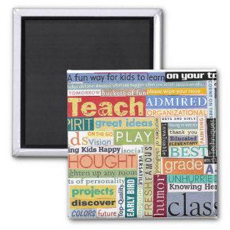 Teacher Gift 2 Inch Square Magnet