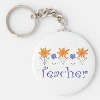 Teacher Gift Flowers Keychain
