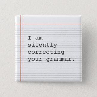 Teacher Gift, funny grammar joke Button