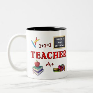 Teacher Gift Mug Teachers Do It With Class zazzle_mug