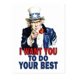 Teacher Gift Notes - Uncle Sam Postcards