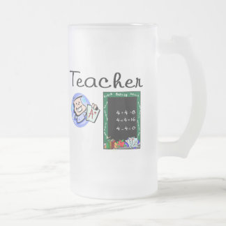 Teacher Gifts Frosted Glass Beer Mug