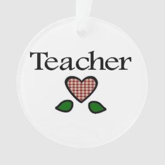 Teacher Gingham Heart