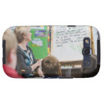 Teacher giving classroom presentation to samsung galaxy SIII cover