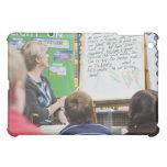 Teacher giving classroom presentation to iPad mini case