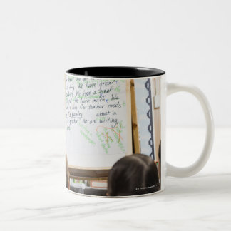 Teacher giving classroom presentation to Two-Tone coffee mug