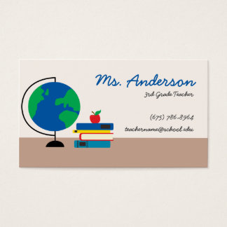 Teacher Globe Business Card