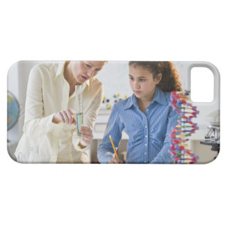 Teacher helping student in science lab iPhone SE/5/5s case