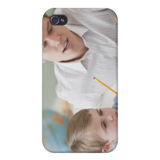Teacher helping student with homework cover for iPhone 4
