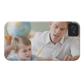 Teacher helping student with homework iPhone 4 Case-Mate case