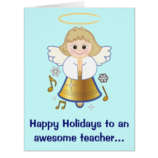 Teacher Holiday Angel from Class Large Card