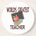 Teacher Holiday Gifts Drink Coaster