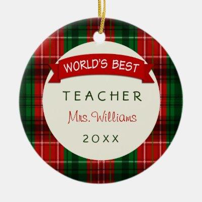 personalized worlds best teacher apple gift ceramic ornament zazzlecom