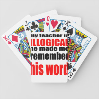 teacher illogical remember school memory intellige bicycle playing cards