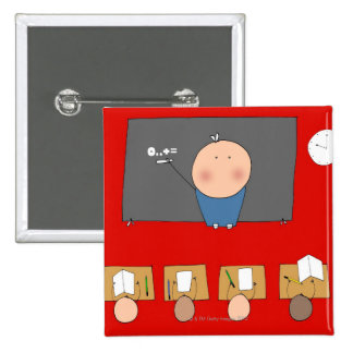 Teacher in front of classroom, elevated view button