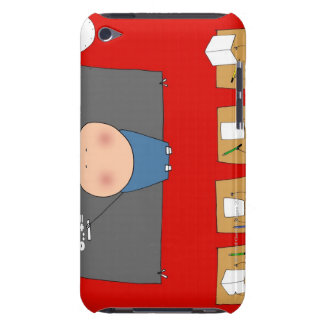 Teacher in front of classroom, elevated view iPod touch cases