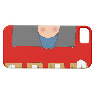 Teacher in front of classroom, elevated view iPhone SE/5/5s case