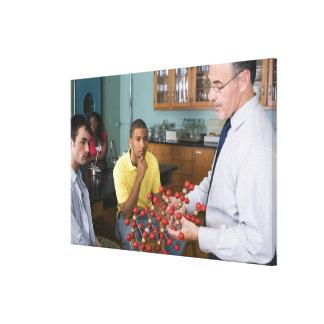 Teacher instructing students canvas print