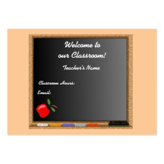 Teacher / Instructor Profile Card Business Card Template