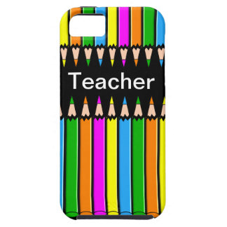 "Teacher iPhone 5 Case ""Colored Pencils"" Design"