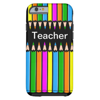 "Teacher iPhone 6 case ""Colored Pencils"" Design"