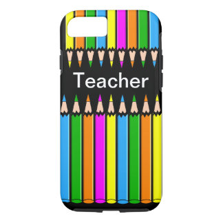 "Teacher iPhone 7 case ""Colored Pencils"" Design"