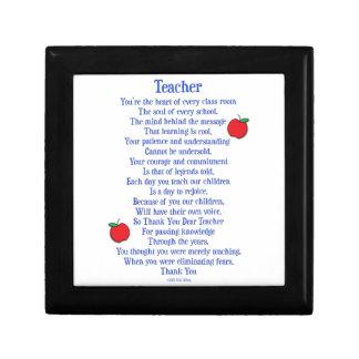 Teacher Jewelry Box
