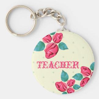 Teacher Keychain - Vintage Rose