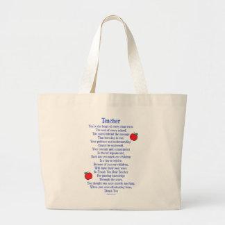 Teacher Large Tote Bag