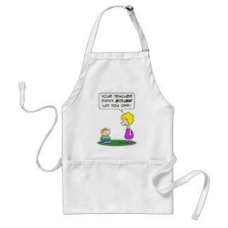 teacher lay laid off school education adult apron