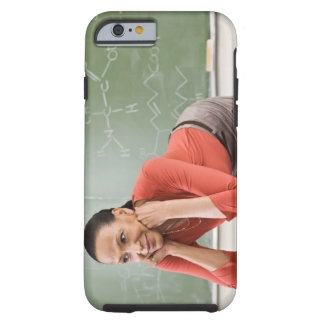 Teacher leaning on desk by chalkboard tough iPhone 6 case