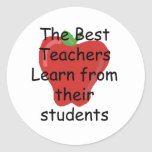 Teacher learn from Students Classic Round Sticker